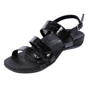 Vionic Teagan Orthoheel Strappy Faux Croc Sandals